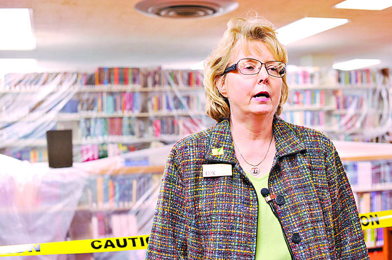 Library may not be fixed until fall