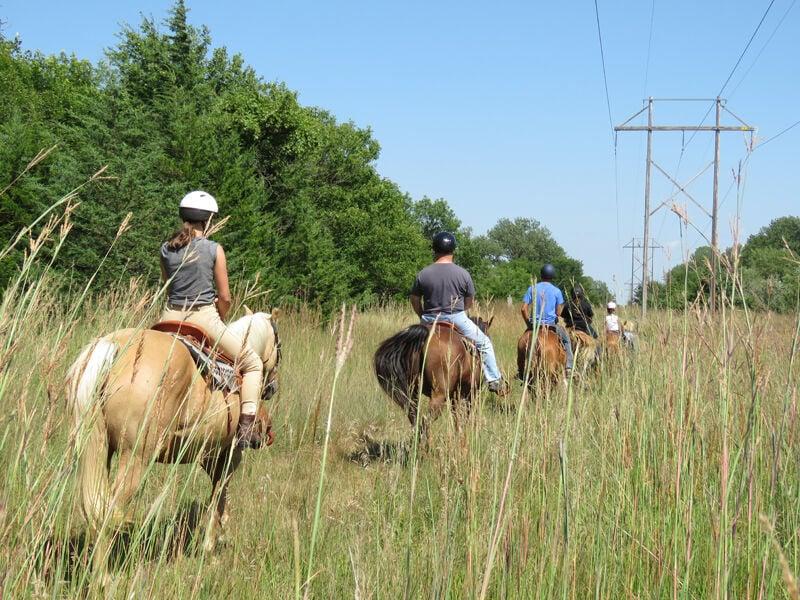 Horseback riding at Fort Kearny State Recreation Area