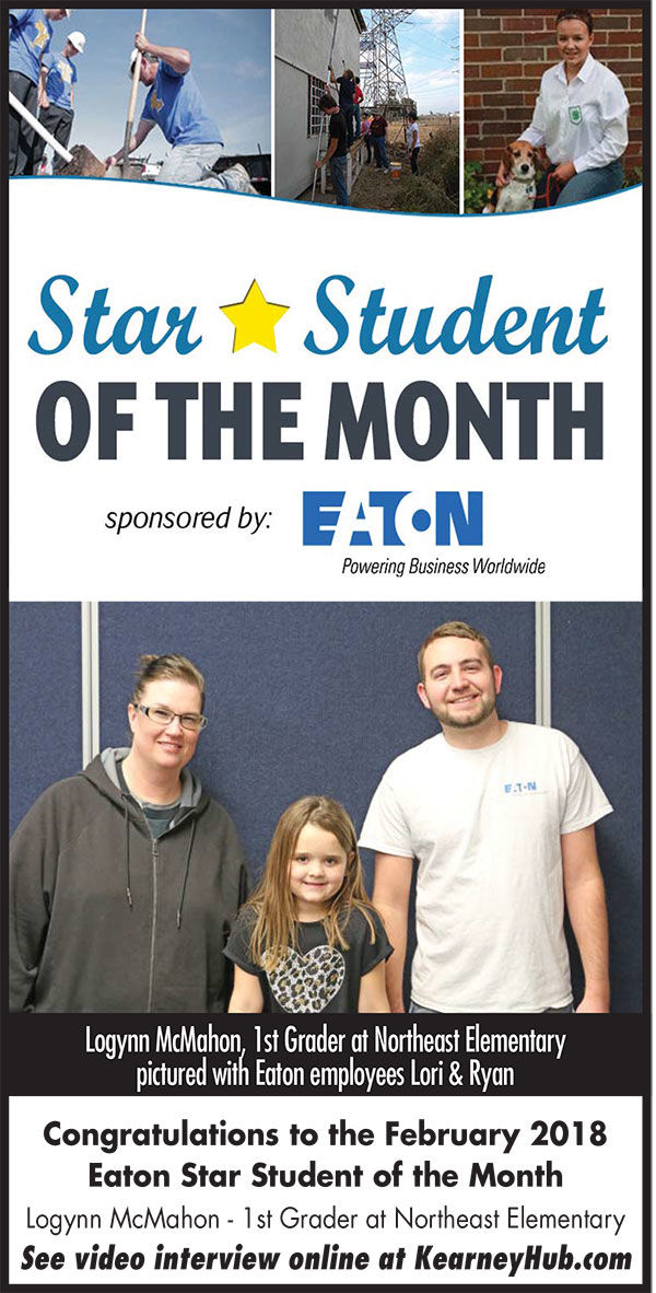 This month's Star Student of the Month: Logynn McMahon