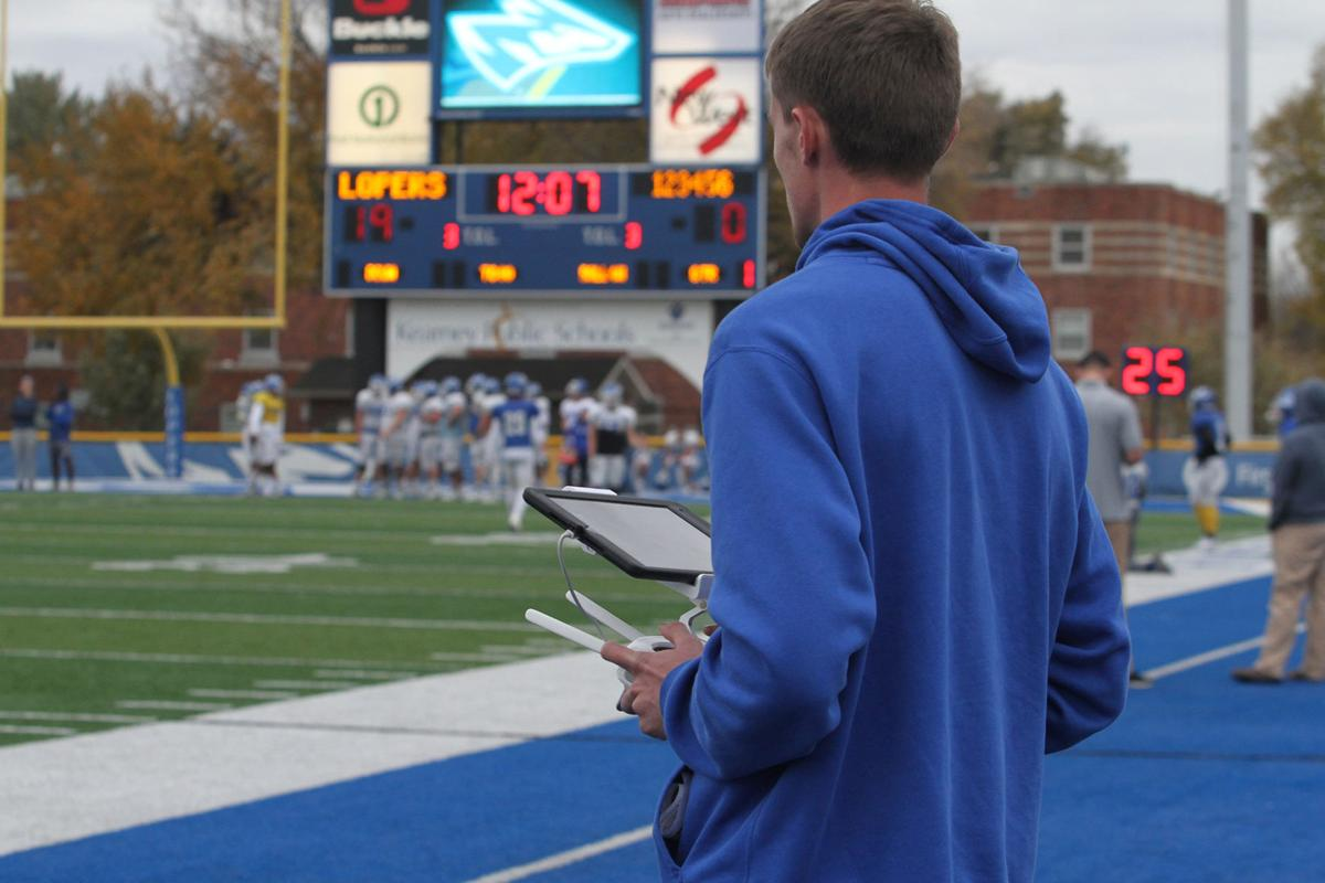 59465159caf Taking Flight  UNK using drone to film practice