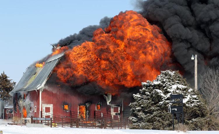 Photos: York barn fire     kearneyhub com