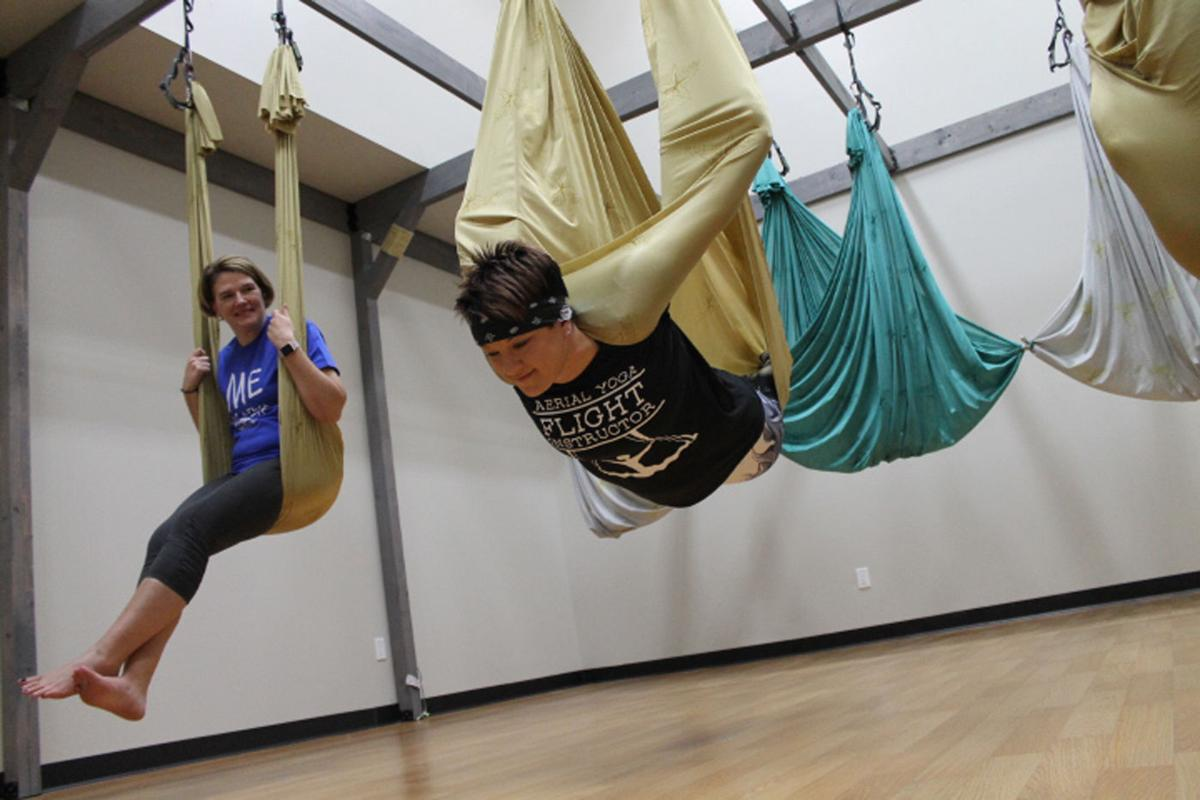 Aerial Yoga Combines Aerobics Yoga And Silk Hammocks At K
