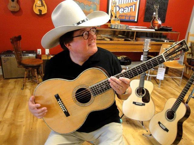 Jim Salestrom wears one of Charlie Daniels' trademark 10-gallon hats