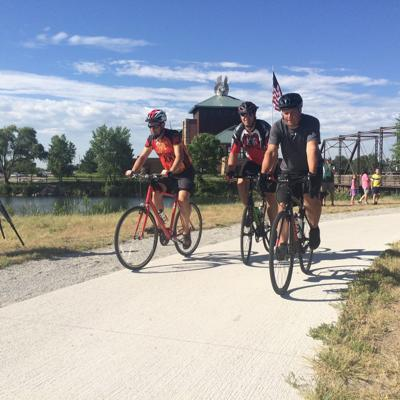 Dedication of the 13.2-mile hike-bike trail linking Cottonmill Park west of Kearney