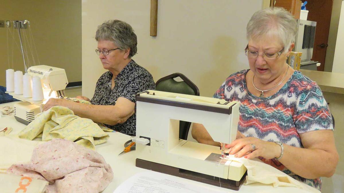 Darlene Schulte sewing