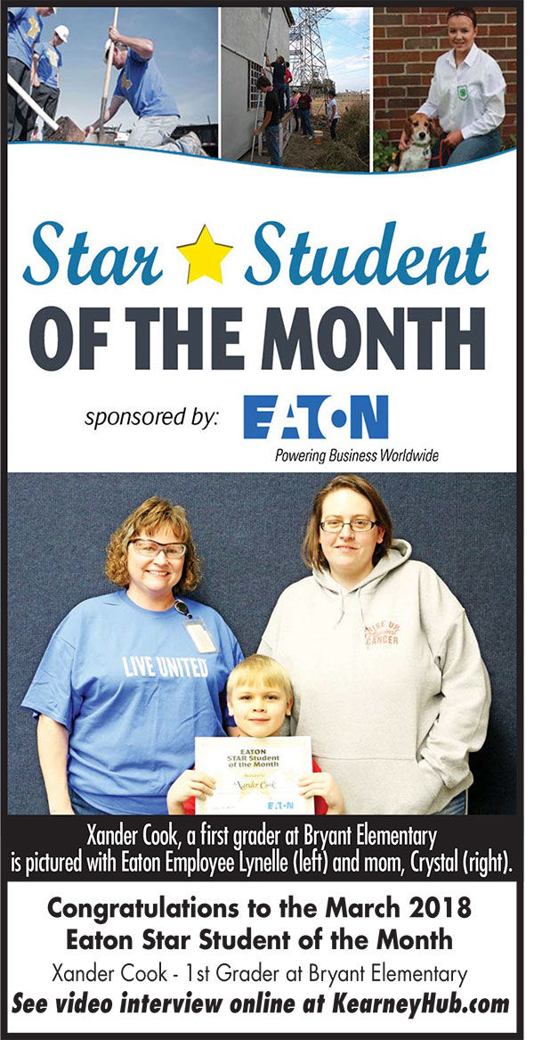 This month's Star Student of the Month: Xander Cook