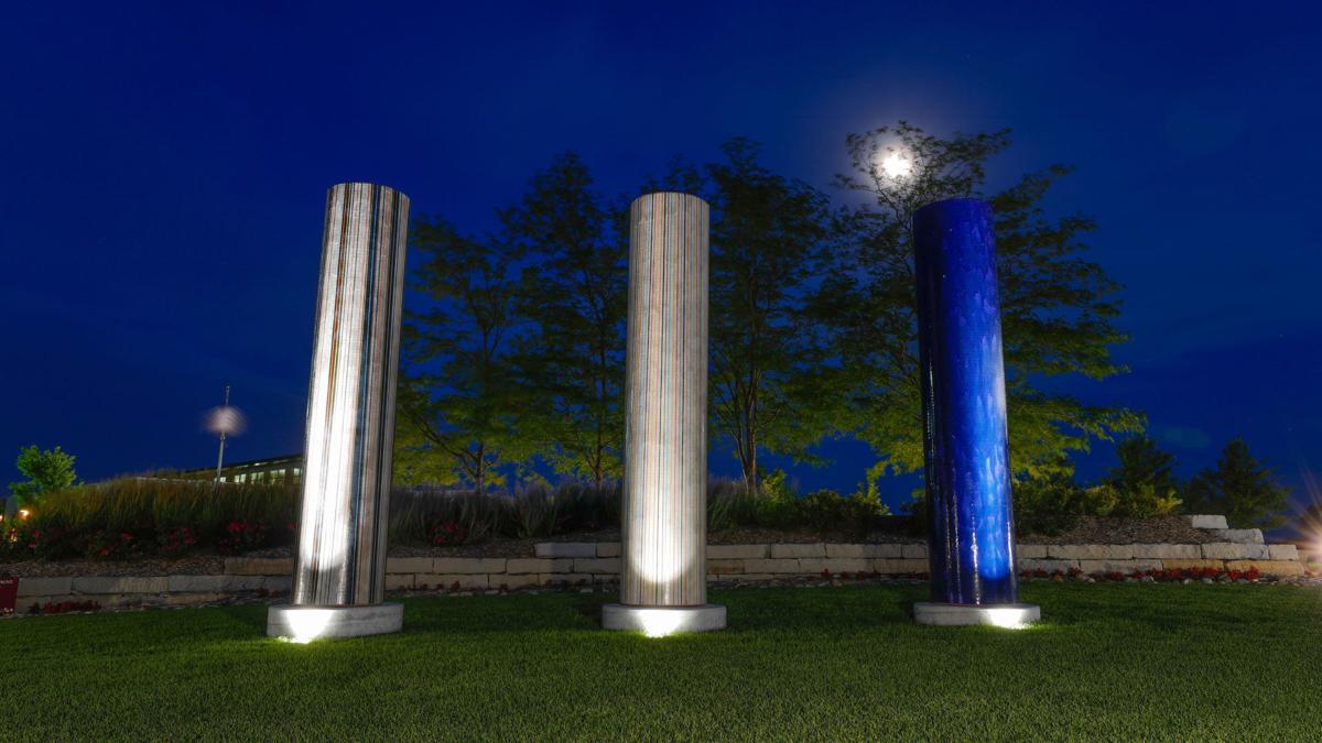 Three Koneko Columns at Yanney Heritage Park