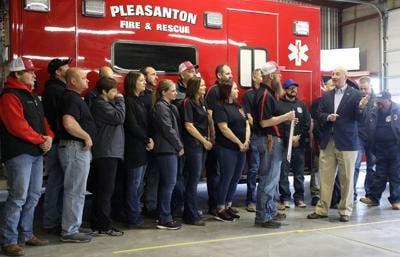 Ricketts speaks to Pleasanton Fire Department
