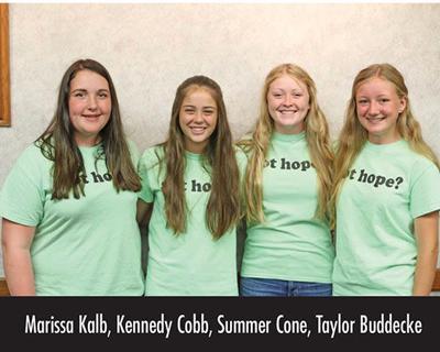 This month's Star Student Winners: Marissa Kalb, Kennedy Cobb, Summer Cone, Taylor Buddecke