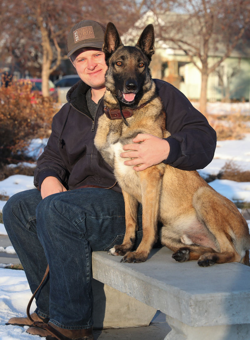 Kearney Navy veteran Jessie Robinson and his military dog Vvito