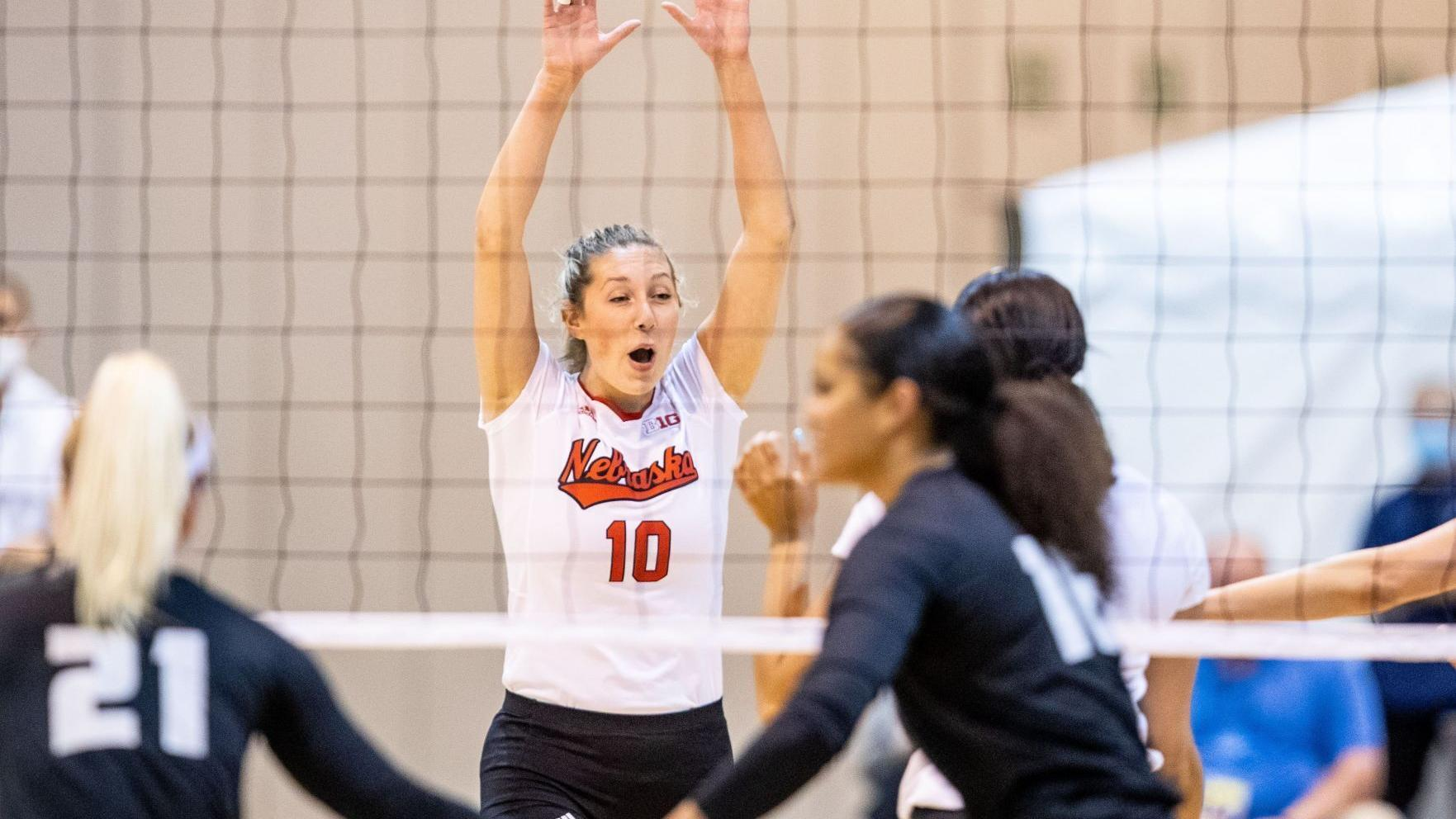 Stivrins, Caffey lead Huskers in second round of NCAA Tournament