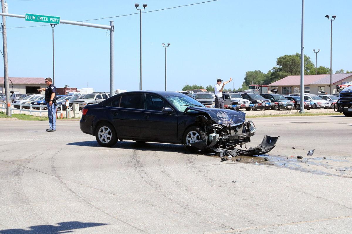 Damaged Hyundai