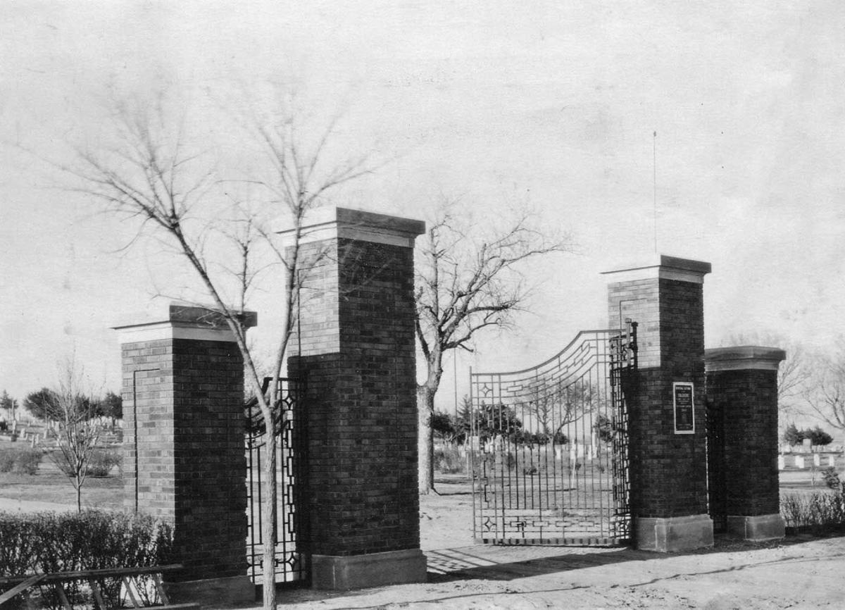 Original cemetery gates