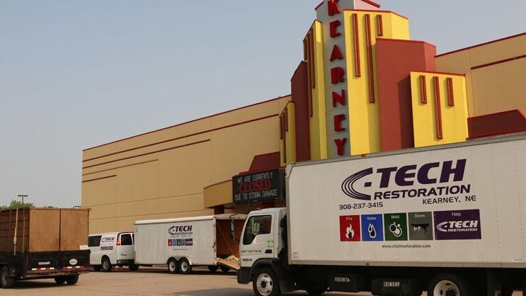 Kearney Cinema 8 windstorm damage
