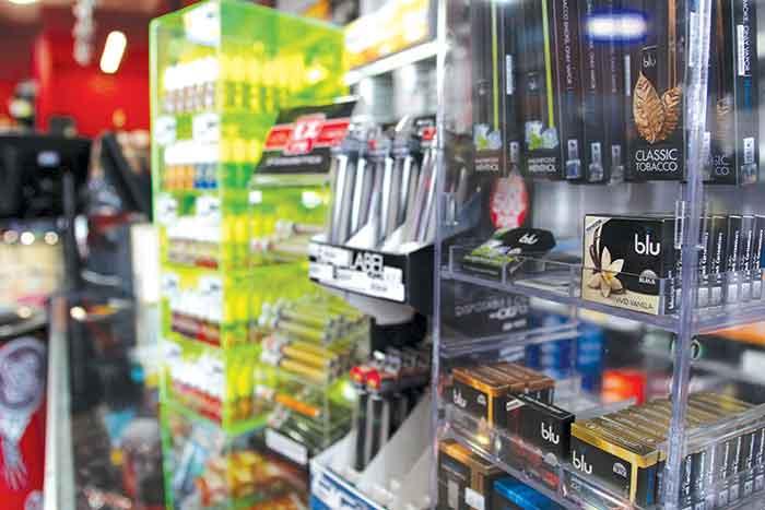 Kearney Smoker Friendly store display case
