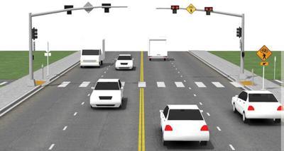 Hybrid Pedestrian Crossing