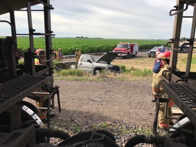 Pickup-train crash