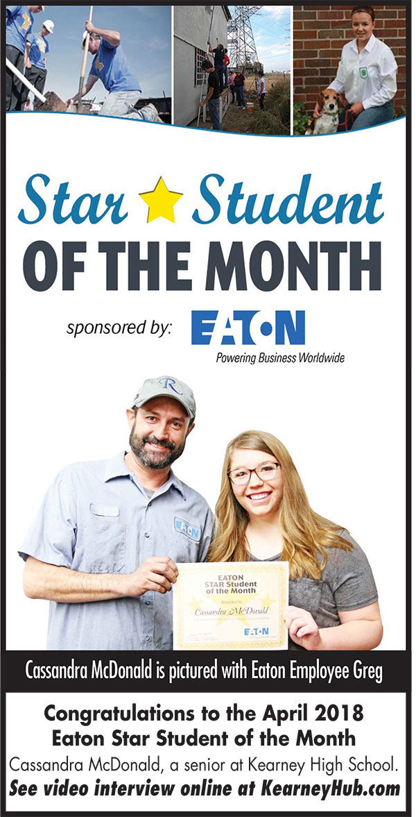 This month's Star Student of the Month: Cassandra McDonald