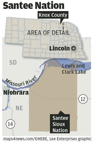 Santee Nation locator map