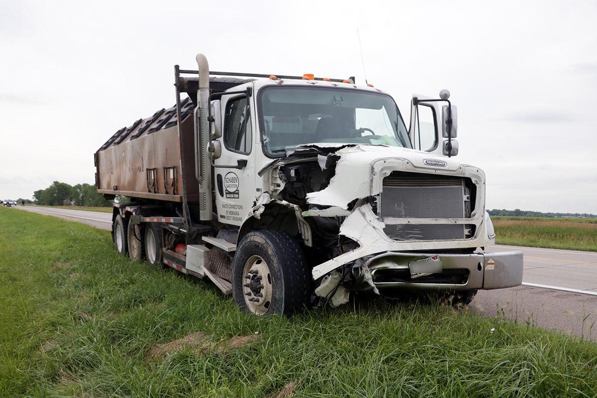 Damaged Sanitation Truck