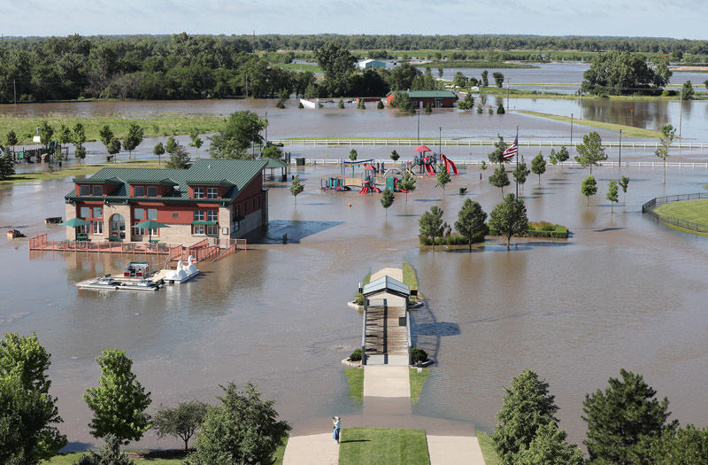 2. Yanney Park, part of Second Avenue closed due to flooding in Kearney (copy)