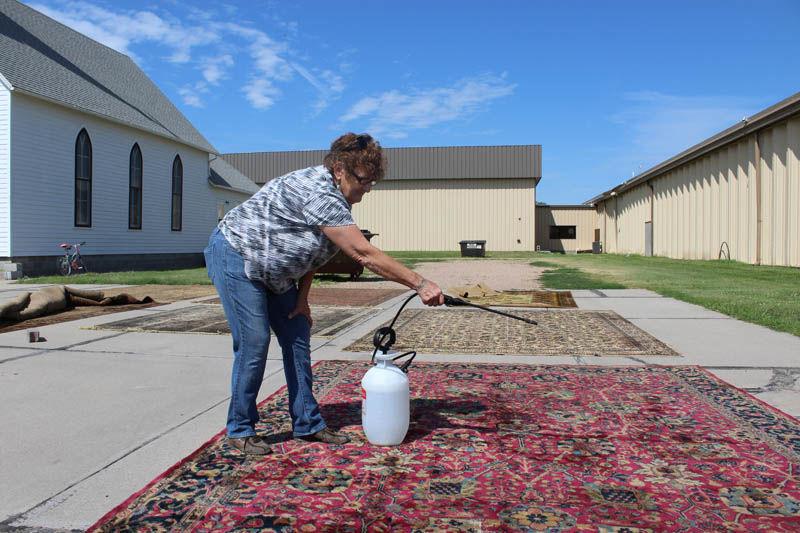 Nebraska Prairie Museum employee Sheila Seyfried