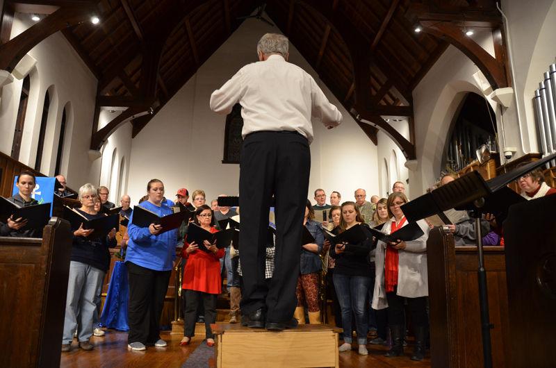 David Bauer directs choir