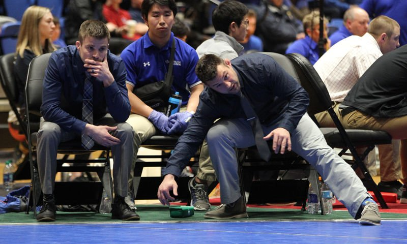 UNK wrestling head coach Dalton Jensen