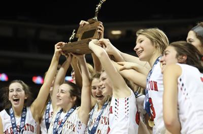 Pleasanton vs. Archbishop Bergan girls state basketball