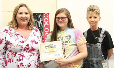 This month's Star Student of the Month: Cassandra Jacobsen