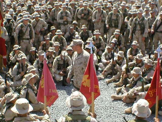 Addressing troops