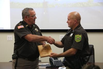 Deputy Aaron Pelzer honored for life saving rescue