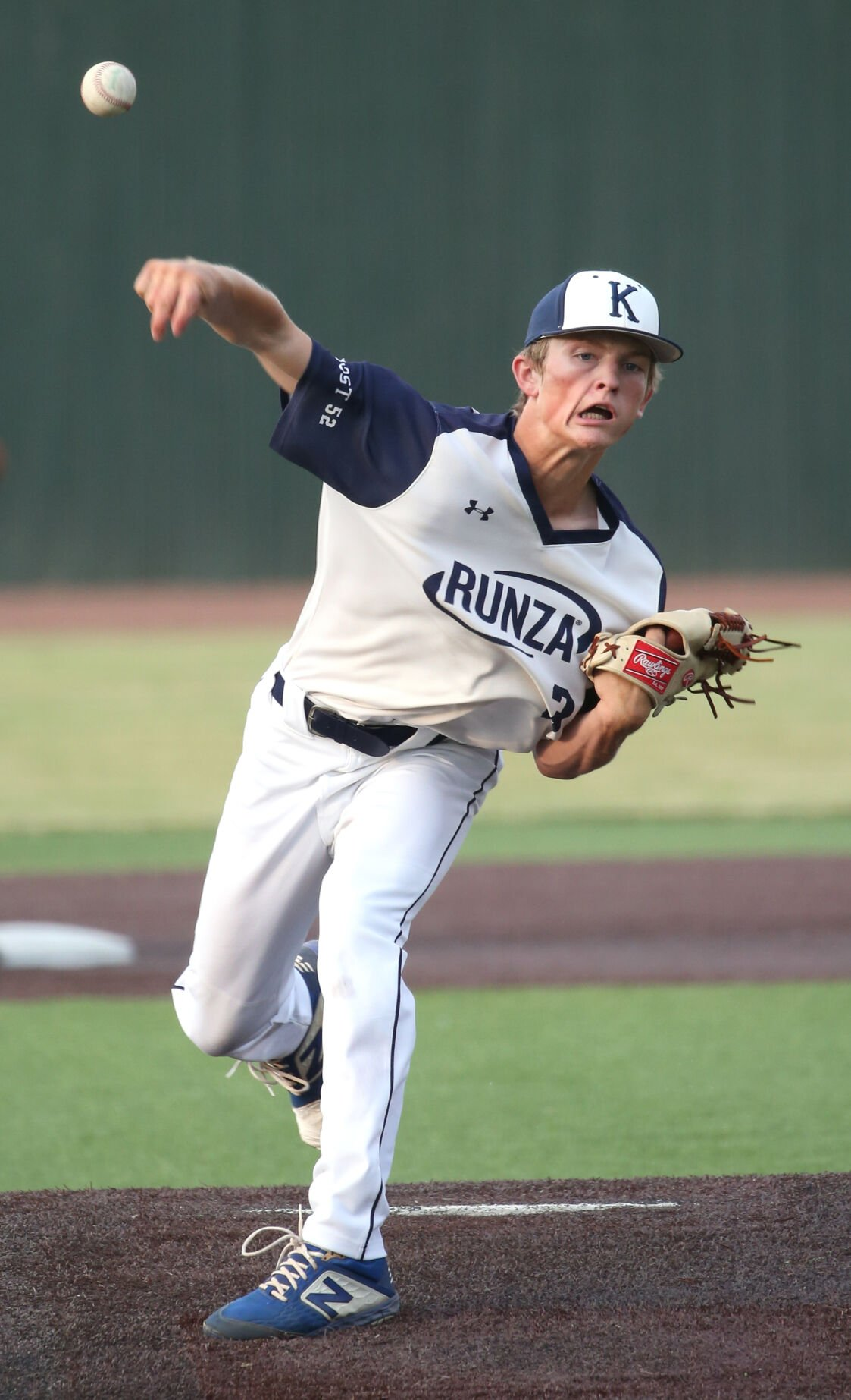 Lucas Wegner pitching