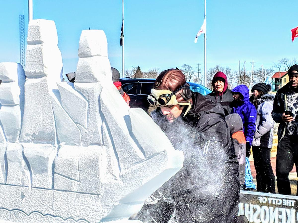 Snow Daze 2019 ice sculpting
