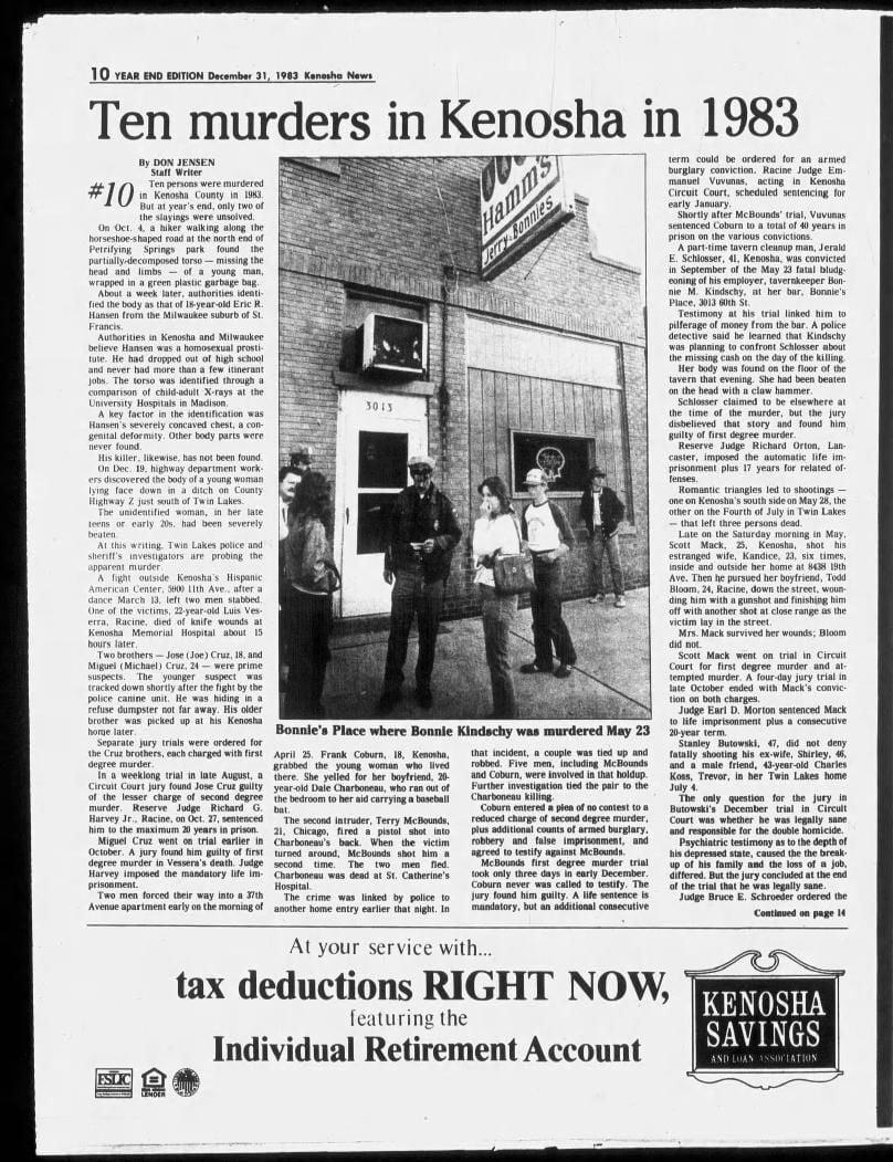 31 Dec 1983, Sat ·  Sunday News (Kenosha, Wisconsin) ·  Page 54.pdf