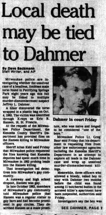 27 Jul 1991, Sat ·  Kenosha News (Kenosha, Wisconsin) ·  Page 1.pdf