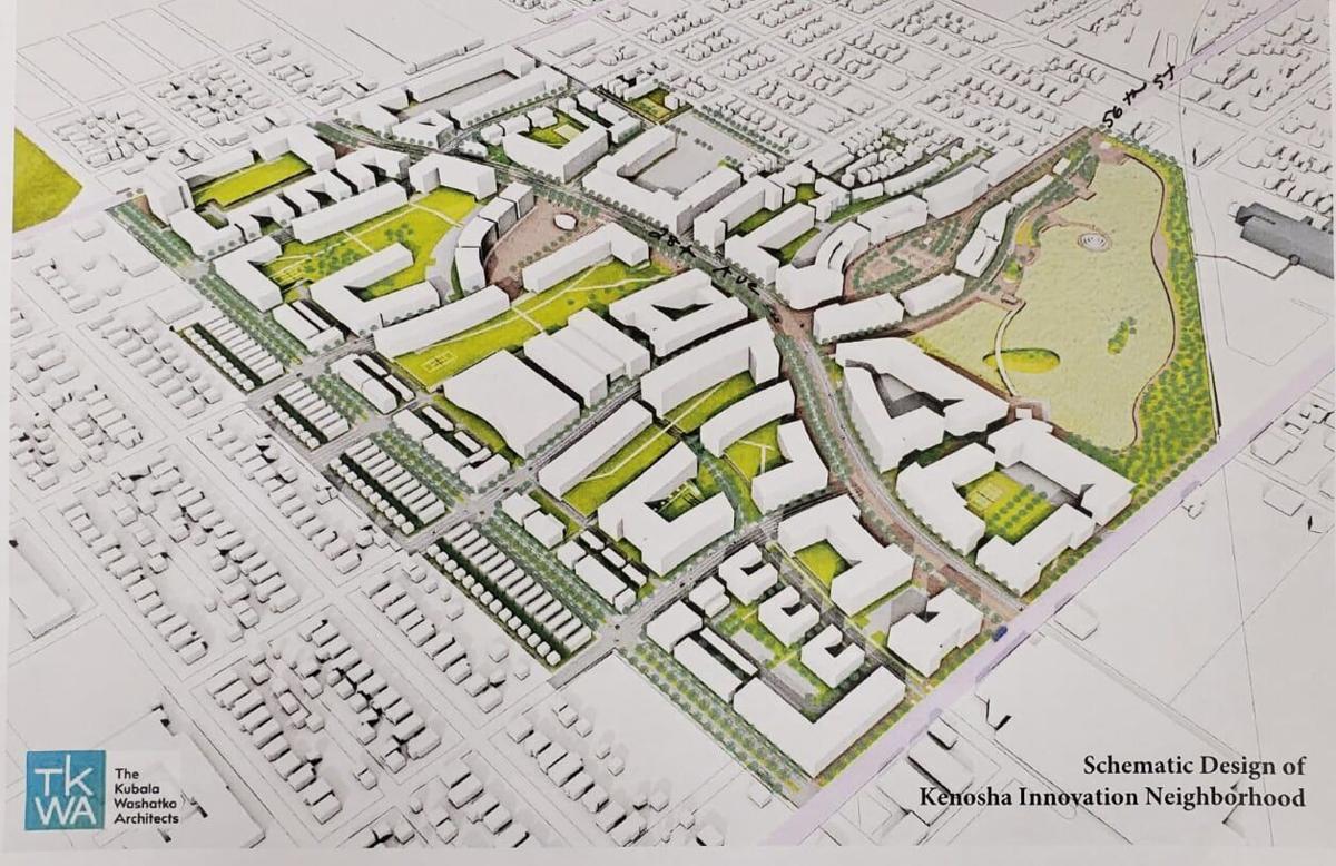 Kenosha Innovation Neighborhood schematic concept at Chrysler site.jpg