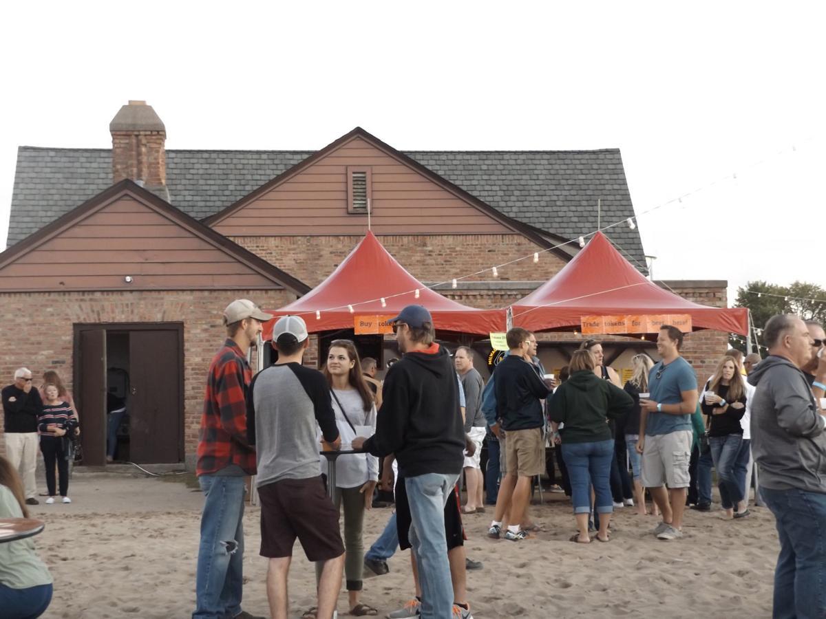 Pop Up Beer Garden crowd