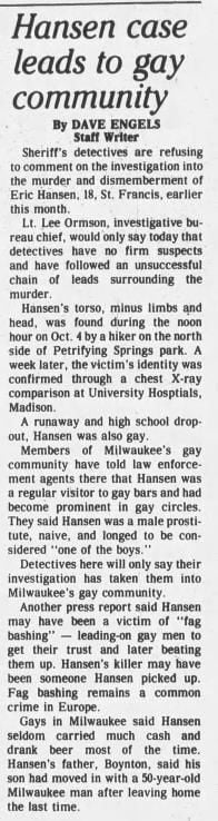 24 Oct 1983, Mon ·  Kenosha News (Kenosha, Wisconsin) ·  Page 10.pdf