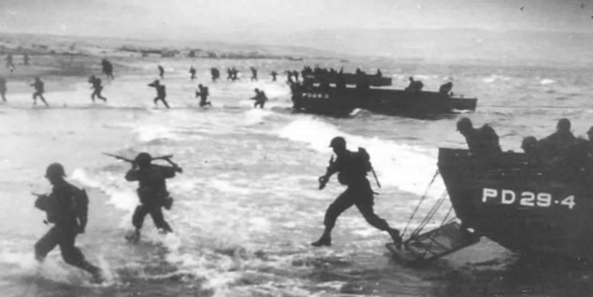 D-Day soldiers in Normandy