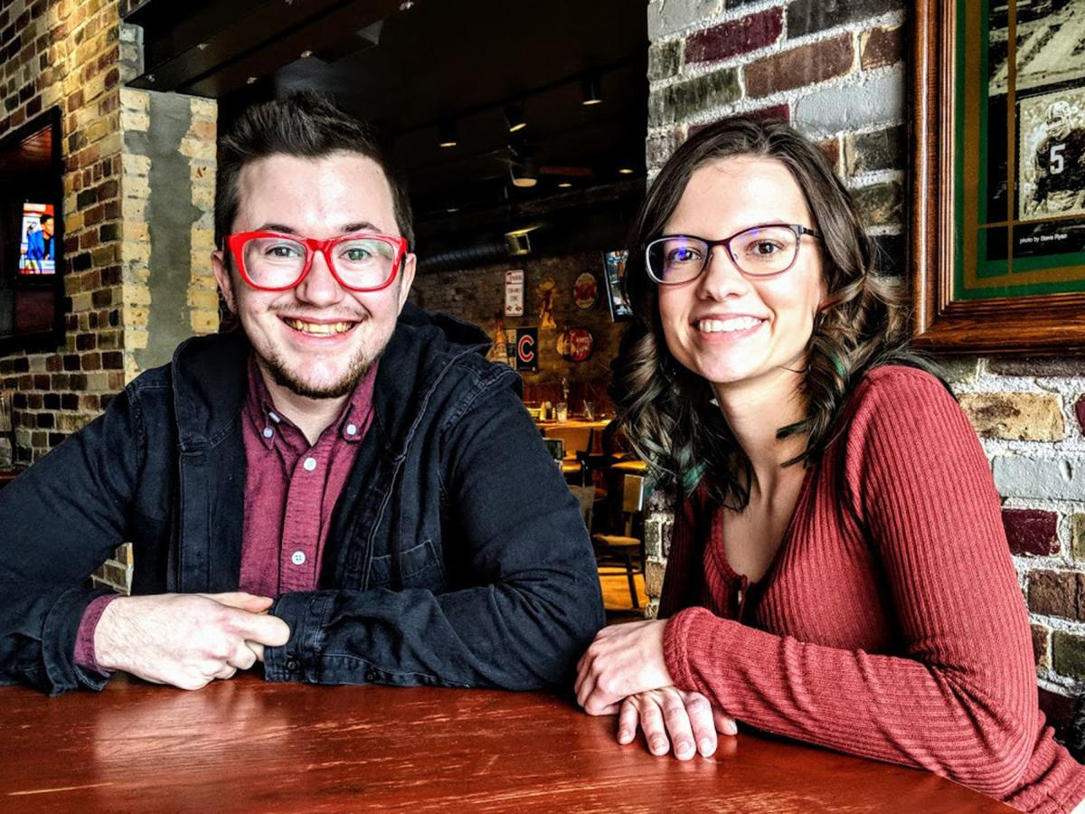 Tyler Coffey and Jessica Baker Parkside theater students