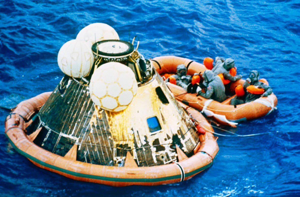 Apollo 11 splashdown