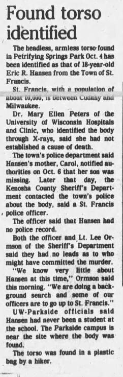 11 Oct 1983, Tue ·  Kenosha News (Kenosha, Wisconsin) ·  Page 1.pdf