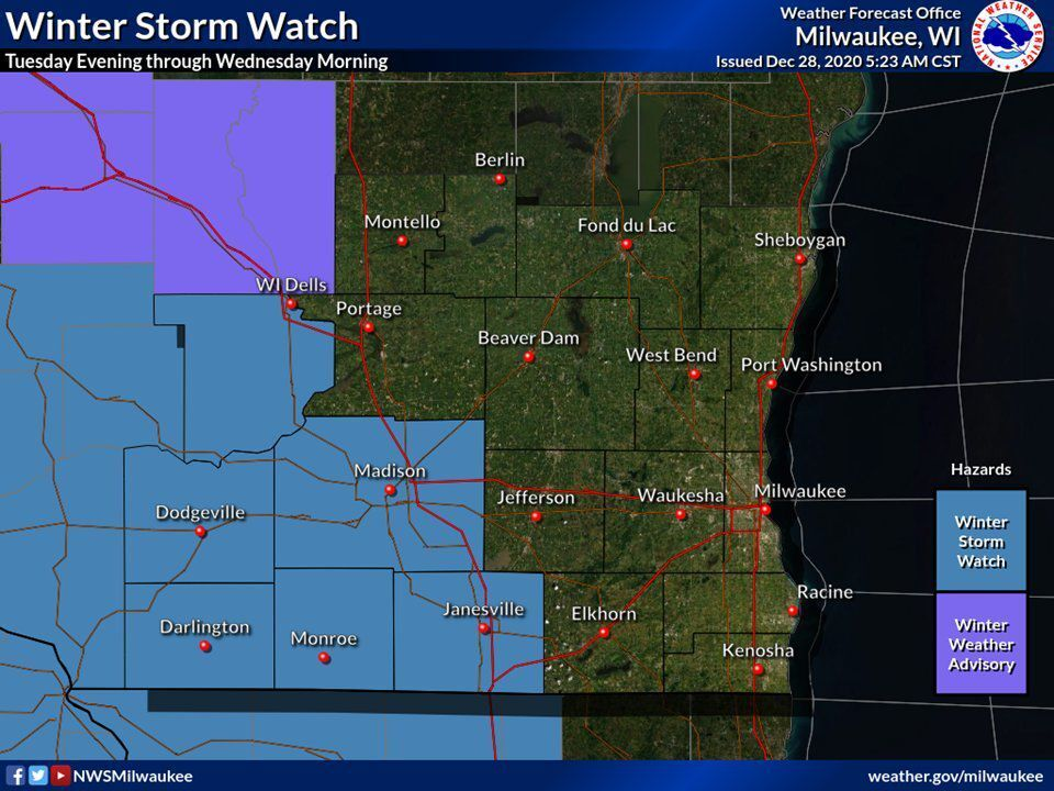 Winter storm watch by National Weather Service