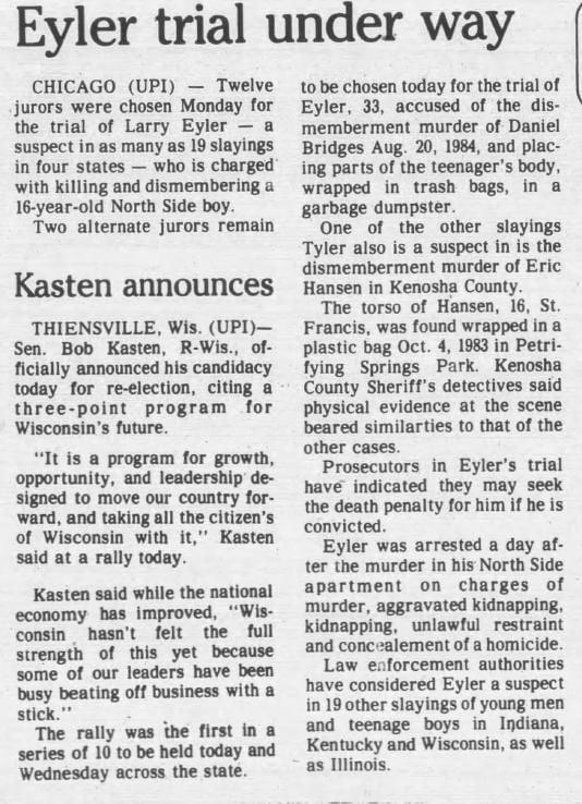 1 Jul 1986, Tue ·  Kenosha News (Kenosha, Wisconsin) ·  Page 15.pdf