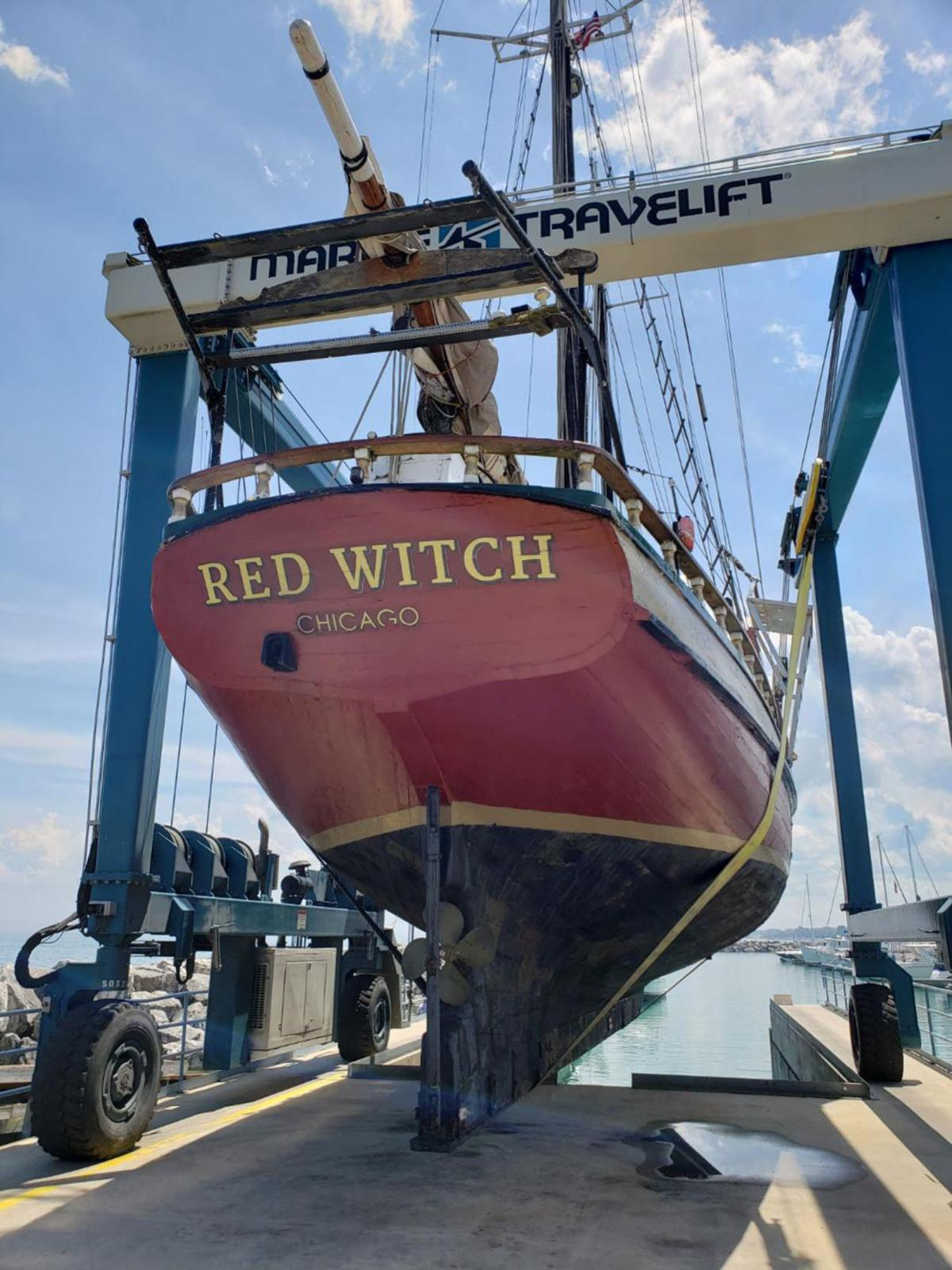 Red Witch ready to sail