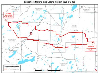 Lakeshore natural gas lateral project map