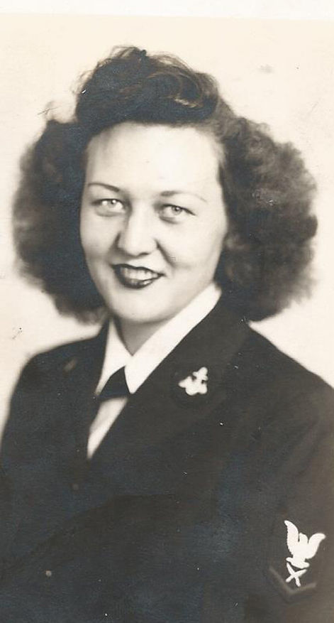 Ruth in WAVE uniform