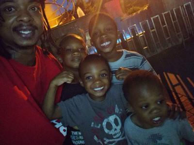 Jacob Blake and kids
