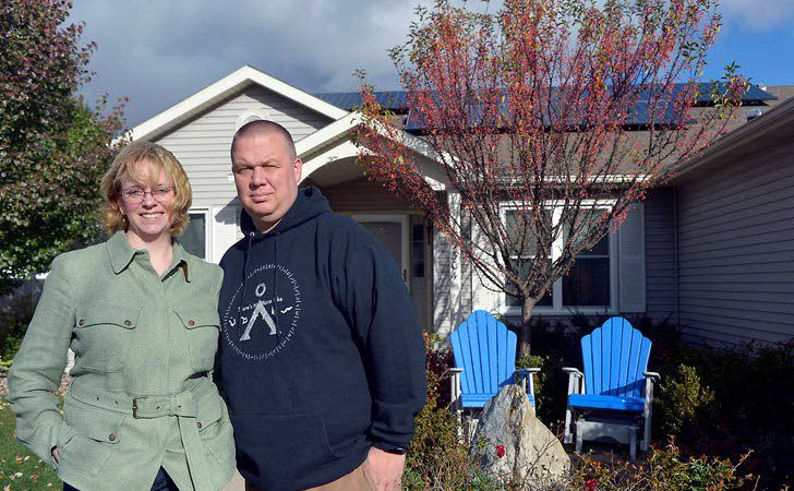Solar power helps couple cut power bill